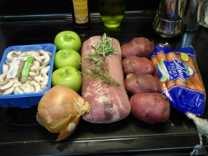Simple list of ingredients! {Ignore the mushrooms... there just was not room!}